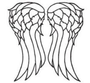 Daryl Dixon Decal -Wings - Norman Reedus - The Walking Dead - TWD - Walkers…