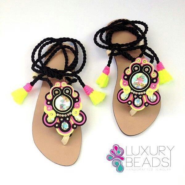 Soutache sandals