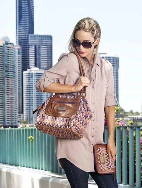 Our Chevron Sunset handbag is the last left in the series so we have reduced it from $109 to $89 - limited stock  www.journie.com.au free postage
