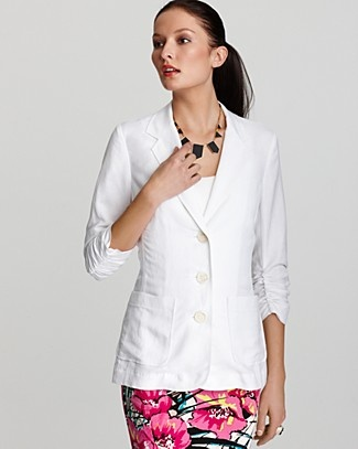 The perfect way to liven up any workplaceLight Pink Blazers, Karen O'Neil, Linens Blazers, Sleeve Blazers, Clothing Style, Blazers Online, Karen Kane, Quarter Sleeve