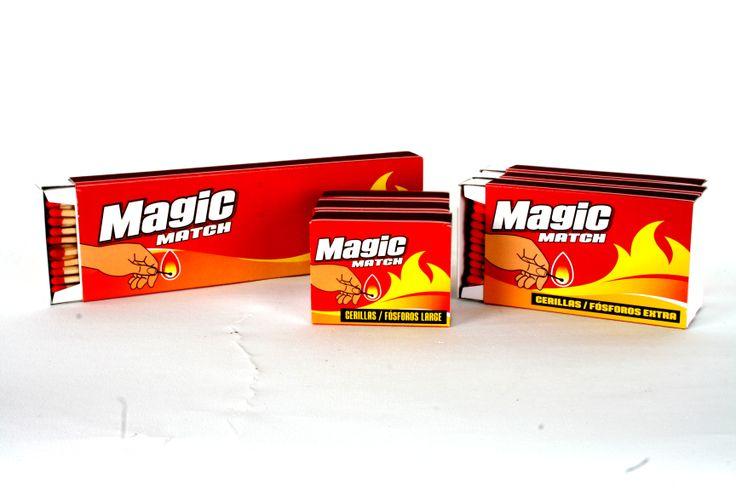 www.clubmagic.es  MAGIC MATCH.Cerillas de tres diferentes formatos para cualquier momento y ocasión: cocina, hogar,chimeneas,velas,fondues,barbacoas...y momentos especiales