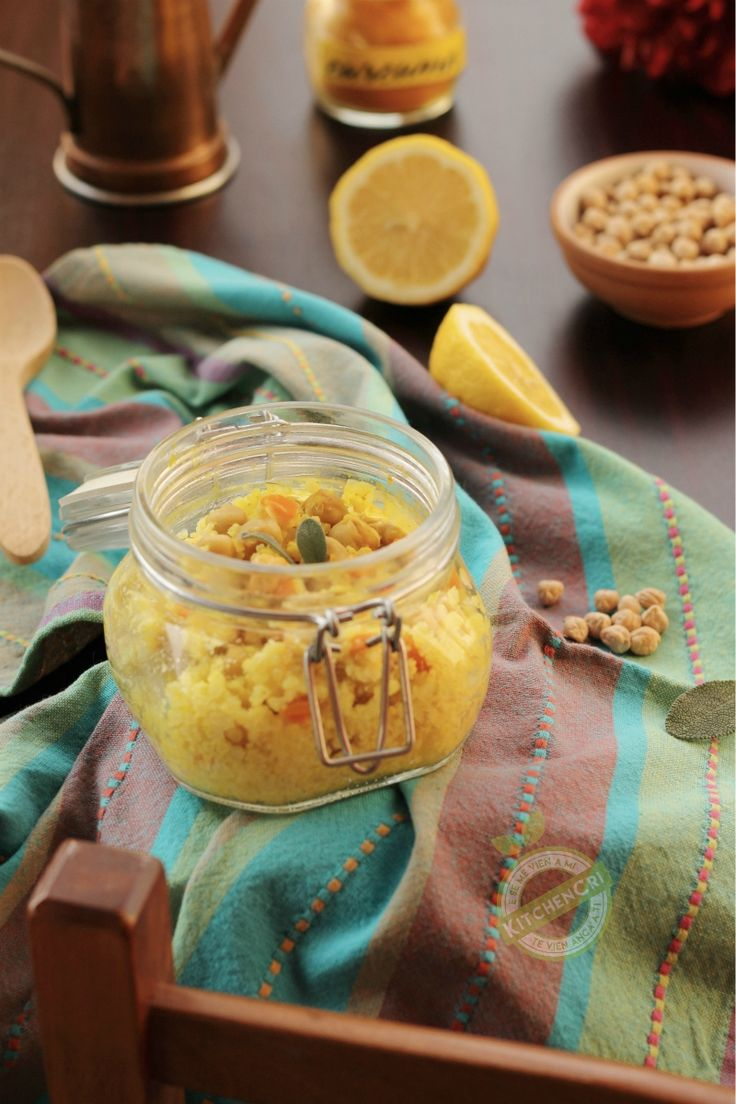 Miglio in vasocottura con limone ceci e curcuma, facile veloce, ricco di minerali e vitamine questo piatto della salute vi stupirà