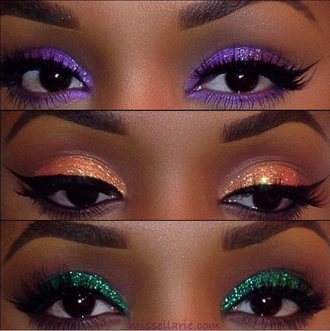 Second time showing this flawless look! Beautiful  makeup colors for black women.The perfect eyeshadows to accessorize your smooth brown skin.This is a 5 star makeup answer for glamour eyes on  brown skin!