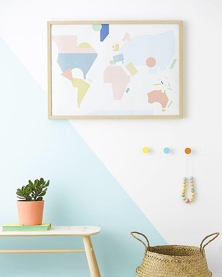 Olli Ella Poster per Cameretta Mappa del Mondo Formato 50