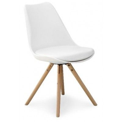 Shello stol - Vit/Ek - Matstol