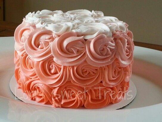 Rose Swirl Cake Design : 411 best Rosette Cake images on Pinterest Biscuits ...