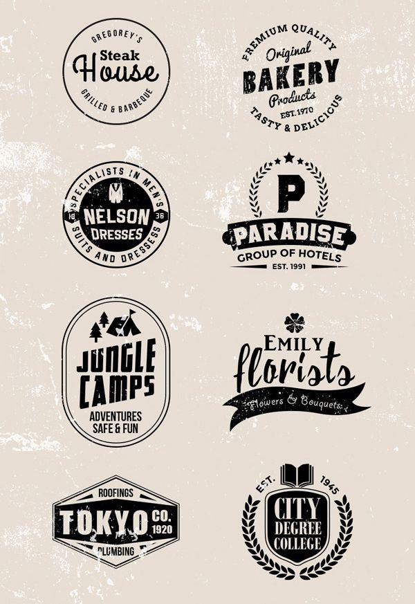 Free Vintage Vector Logos