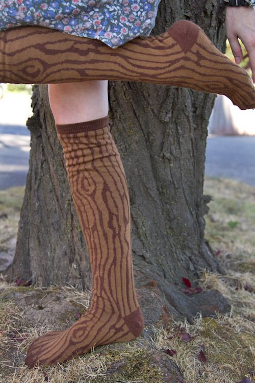 Ashi Dashi Wood Knee High from Sock Dreams    I love this idea and I really love the Mahogany shade in particular.