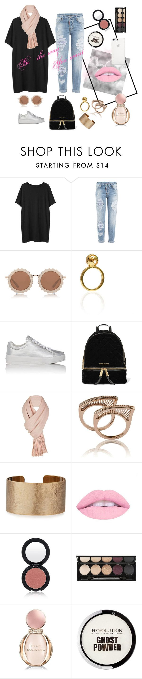 """""""Casual simple and sweet"""" by syahamzah ❤ liked on Polyvore featuring Organic by John Patrick, Dsquared2, House of Holland, Prada Sport, MICHAEL Michael Kors, Free People, Panacea, Glo Minerals, Witchery and Bulgari"""