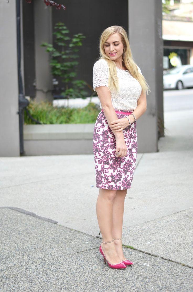 @Boden pencil skirt & Crochet top. #bodenbyme #summerstyle