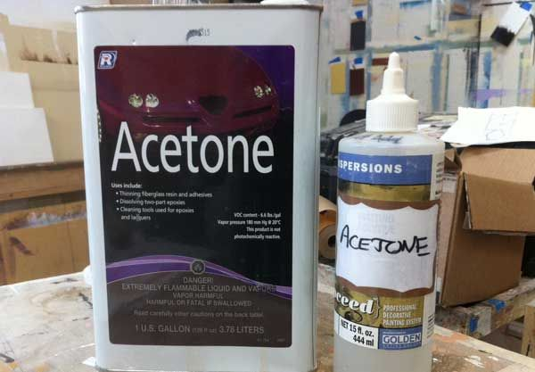 how to clean oil paint brushes acetone
