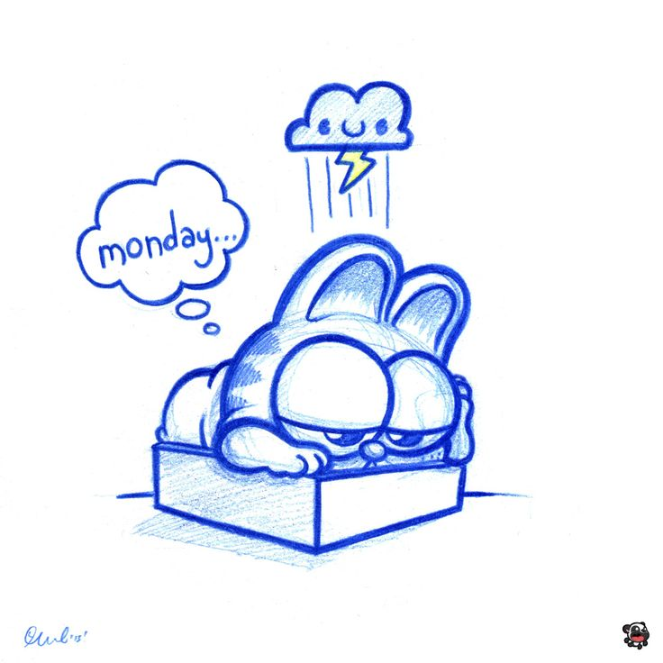 https://flic.kr/p/fsn92X | Blue Doodles #47: Garfield and the case of the Mondays. | I know that feel bro. Daily doodles have been rebranded to Blue Doodles! A5 size (8.3 x 5.8 in) Col Erase pencil on paper 1/1 Original sketch Monday 12th August 2013