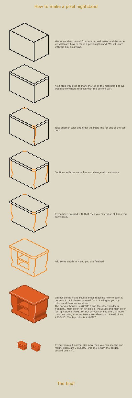 How to make a pixel nightstand by vanmall on deviantART