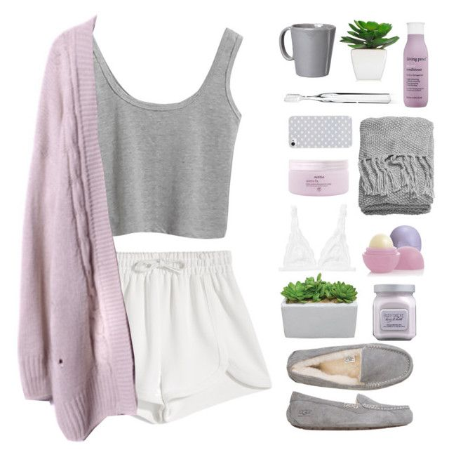 """""""sing me a lullaby"""" by aria-97 ❤ liked on Polyvore featuring Laura Mercier, Aveda, Monki, Francesco Scognamiglio, UGG Australia, Vietri, H&M, BlissfulCASE, Supersmile and Living Proof"""