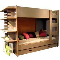 KIDS BUNK BED WITH SLIDE IN SHELF in David Design