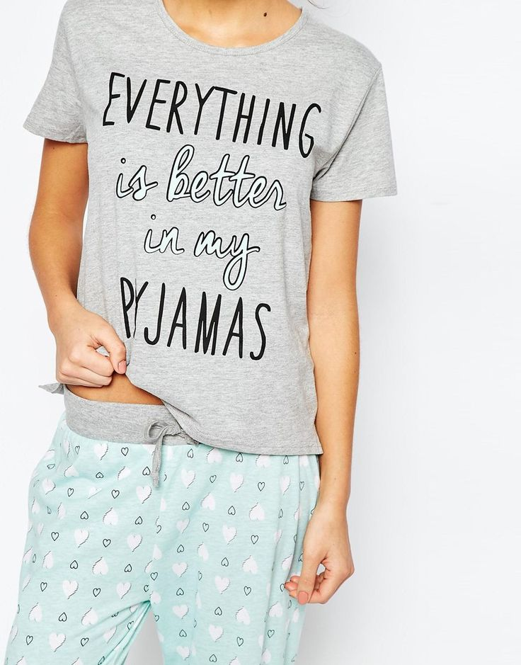 Image 3 of New Look Love Heart Pajamas
