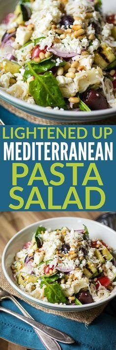 Mediterranean Pasta Salad, Lightened Up