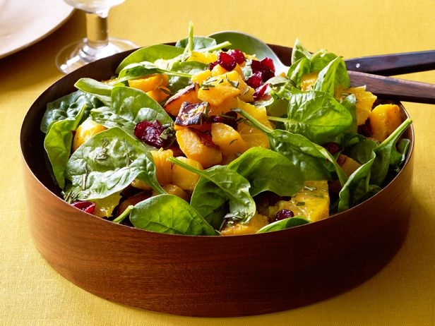 Roasted Butternut Squash Salad With Tangerine-Rosemary Vinaigrette recipe from Marcela Valladolid via Food Network