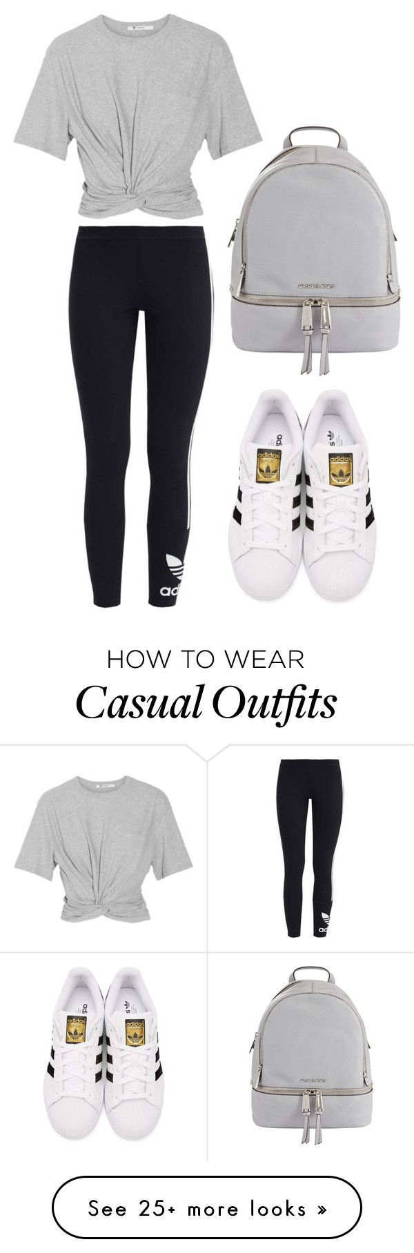 """""""Casual.1"""" by taylah14 on Polyvore featuring adidas Originals, T By Alexander Wang and MICHAEL Michael Kors"""