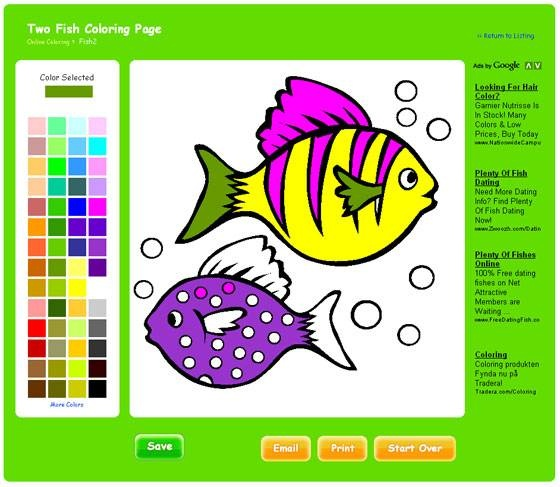Free On Line Coloring Pages