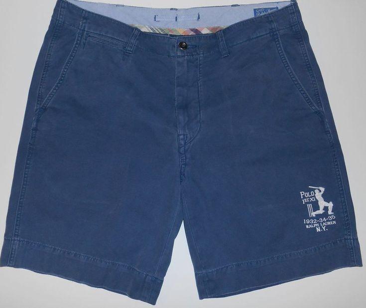Ralph Lauren Baseball Shorts Men's 36 Polo 1st XI 1932-34-35 Ralph Lauren N.Y.  #PoloRalphLauren #CasualShorts