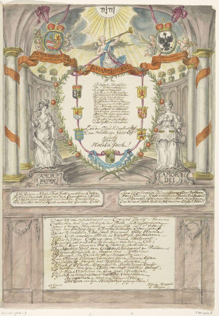 Vers voor prinses Wilhelmina bij de veertigste verjaardag van prins Willem V, 1788, Maria Margaretha la Fargue, 1788