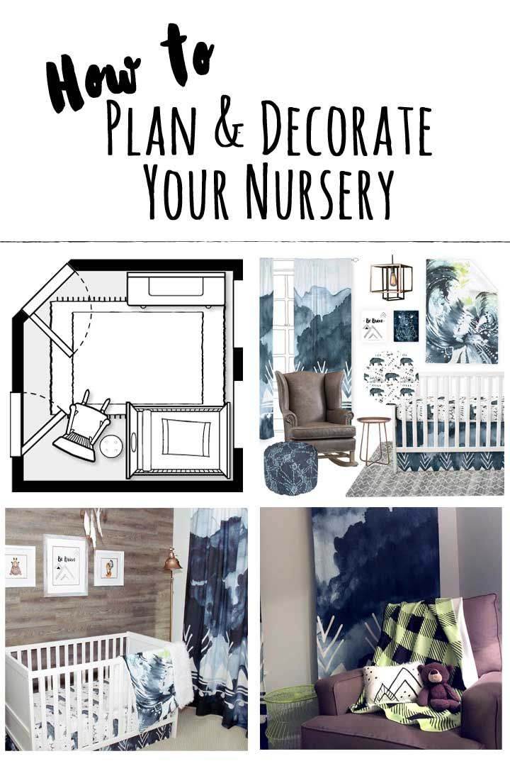 How To Plan & Decorate Your Nursery - When it comes to planning & decorating your nursery you're probably excited to get started right? Only, after looking at oodles of inspiration you may be feeling a bit overwhelmed at how to even begin. There are many approaches to how you can go about creating this special space for your new baby, and I'm going to share what I've found has worked best for me.