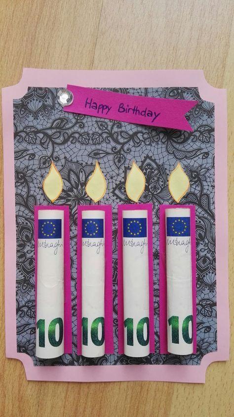 Geburtstagskarte / Geldgeschenk – #Geburtstagskart…