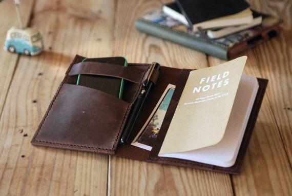 Funda de cuero pra cuadernos Moleskine. Accesorios de viaje. Regalo perfecto para viajeros. Regalo de Navidad. Funda cuero verde. MLSK011