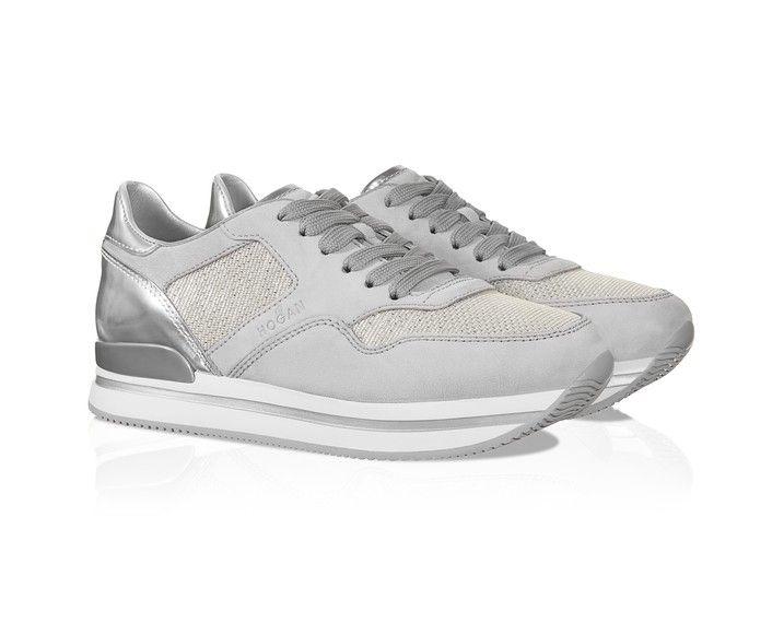 Hogan Chaussures De Sport À Panneaux Bas Montantes - Gris AQitO