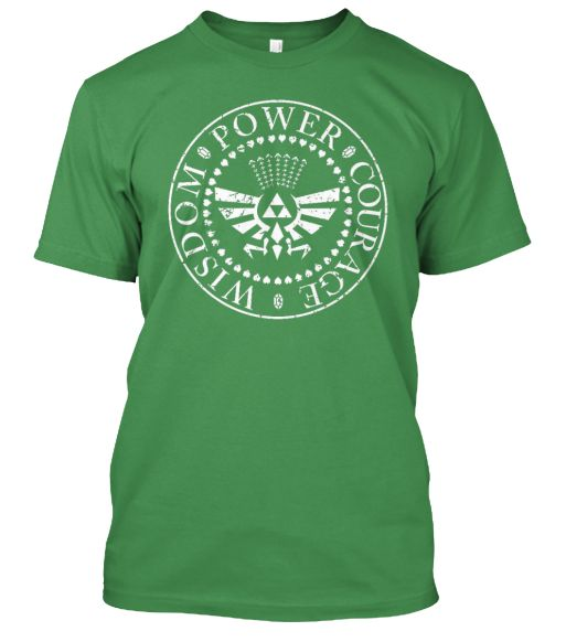 Legend of Zelda - Wisdom, Power, Courage T-SHirt!  http://teespring.com/new-legend-of-zelda