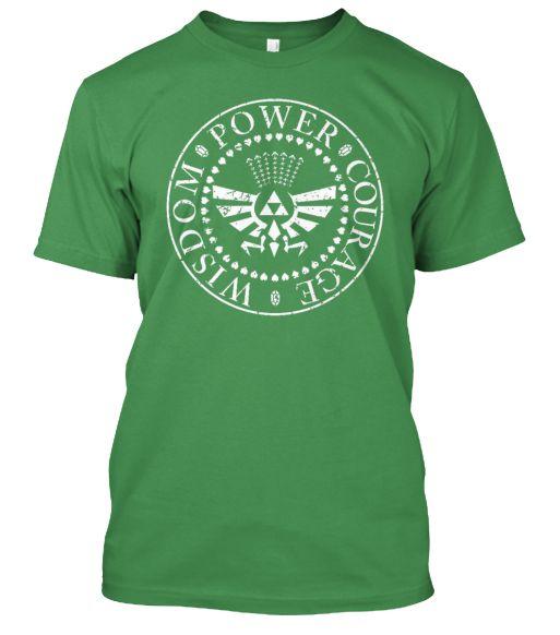 Legend of Zelda - Wisdom, Power, Courage T-SHirt!  http://teespring.com/new-legend-of-zelda