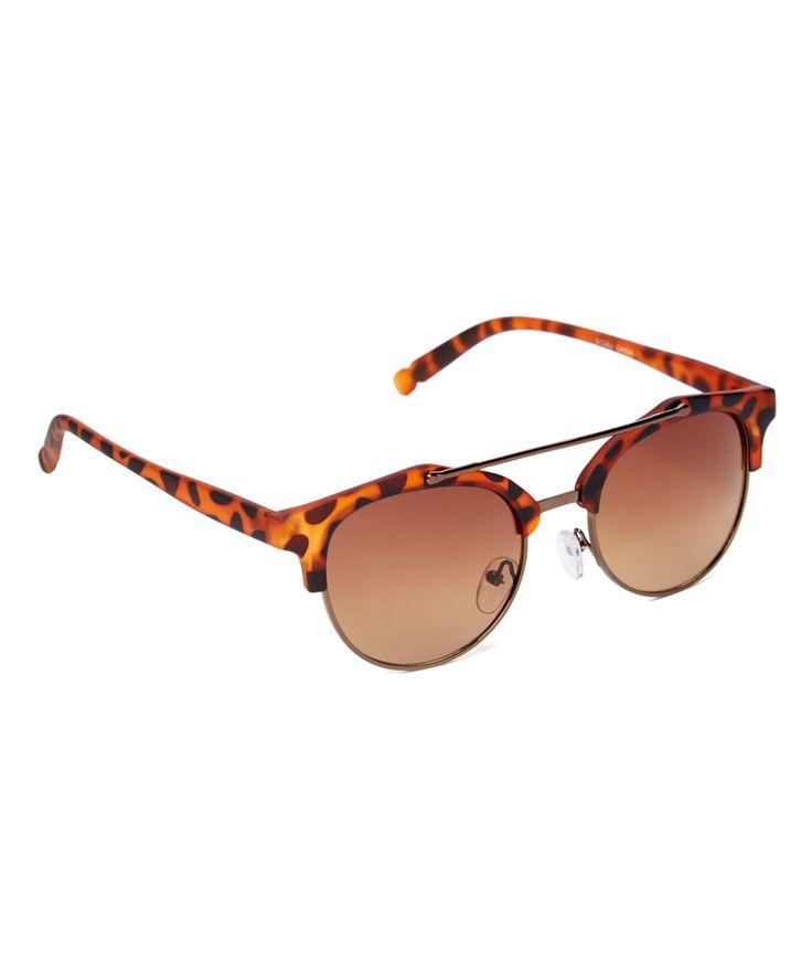 Love this Art Wear Matte Tortoise Metal-Bridge Browline Sunglasses by Art Wear on #zulily! #zulilyfinds
