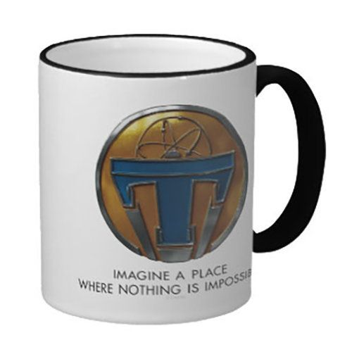 Inspired by the new Disney film, drink a toast to the future with this sleek customizable Tomorrowland mug from a place where nothing is impossible.