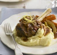 Recipe for Braised lamb shanks with lemon