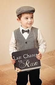 page boy ring bearer - Google Search 'Last chance to run' funny aisle sign