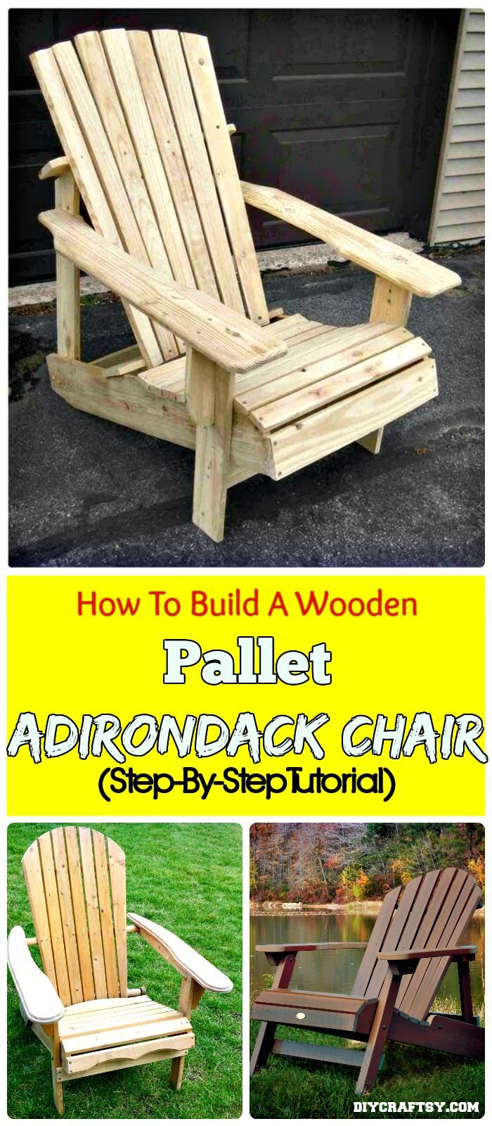 How To Build A Wooden Pallet Adirondack Chair (Step-By-Step Tutorial) - 150 Best DIY Pallet Projects and Pallet Furniture Crafts - Page 30 of 75 - DIY & Crafts