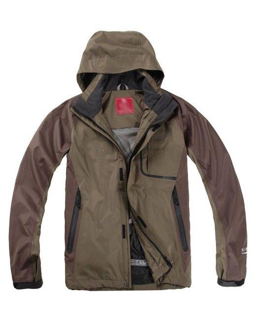 Pockets Long Sleeve Zipper Hooded Men Waterproof Jacket Clothing  Price: $250.08 USD