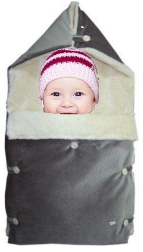 Baby Stroller Bunting made of ORGANIC MATERIALS / Sleep Sack Bag / Baby Bunting/ Stroller Bunting/ Footmuff/ Foot Muff Blanket (Toddler, Grey/ White Faux Fur) Suitable for popular stroller models – Peg Perego, Inglesina, Bugaboo, Graco, and many other US and Foreign models ($119.99)