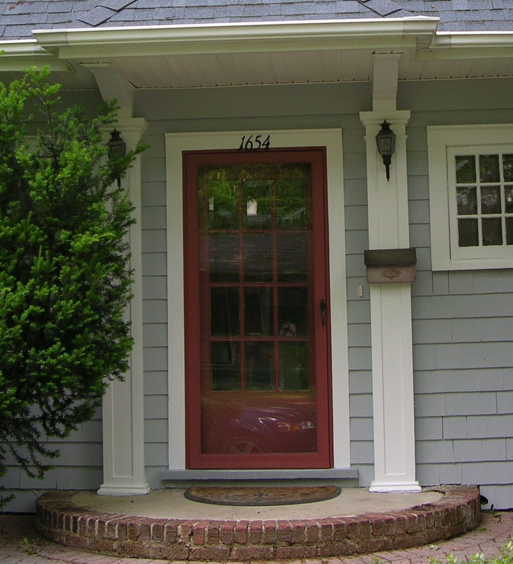 This is the same door after we changed the trim color to for Front entry storm doors