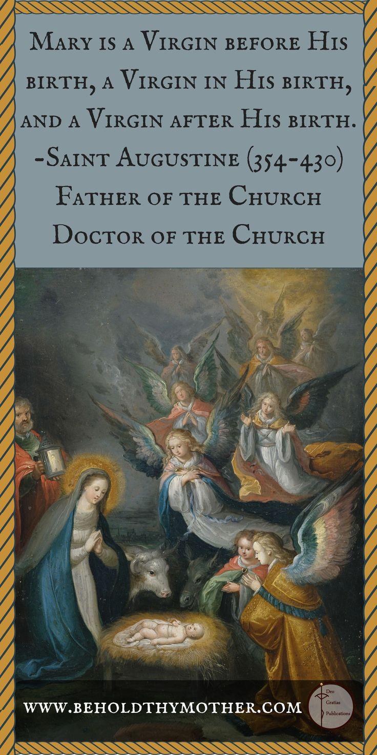 """Catholic Truth as spoken by the Early Church Father Saint Augustine with a masterpiece by Cornelis de Baellieur (1607-1671). From """"Behold Thy Mother"""" an English/Latin Scriptural Rosary book."""