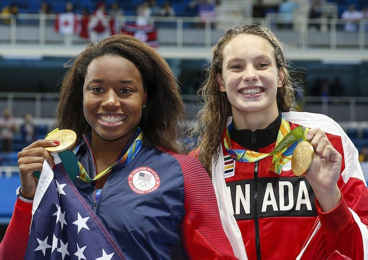 The Olympic highs and lows that defined the 2016 Games for women: Canada's Penny Oleksiak and Simone Manuel from the U.S. both touched the wall at 52.70 seconds in the women's 100m freestyle, confusing commentators for a few seconds as they tried to decipher what just happened. Not only did both ladies break an Olympic record and tie for gold, but Manuel's gold medal win is the first time an African-American woman has won an individual medal in swimming.