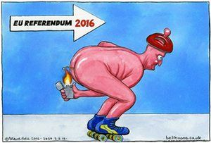 Steve Bell on David Cameron's EU negotiations – cartoon