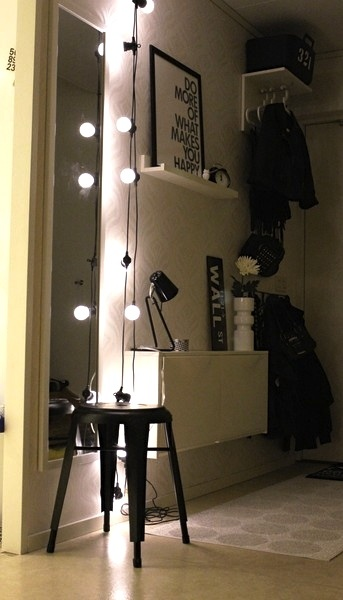 Via Inspiration Design   Hallway   Black and White   Granit String Lights