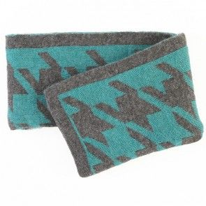 Rutherford Teal Wool Blend Throw