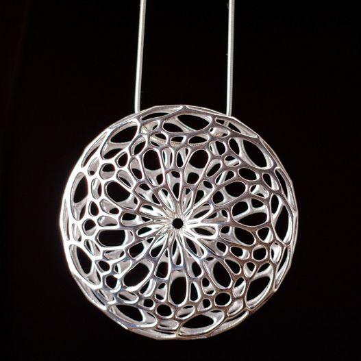 Nervous System   Shop   silver Cellular Pendant