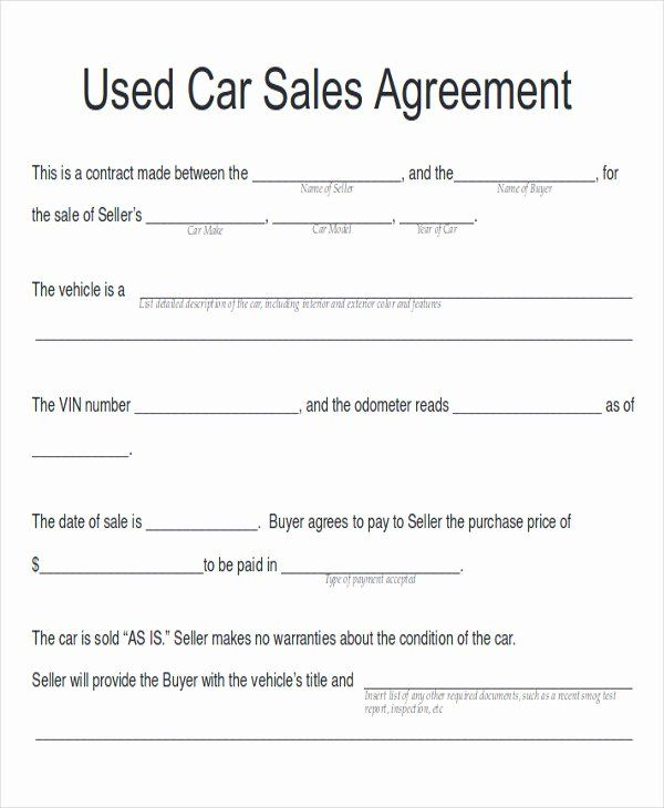 Private Car Sale Agreement Template Awesome Sample Car Sales Contract 12 Examples In Word Pdf Contract Template Sell Car For Sale Sign