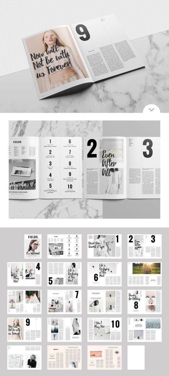 Para las páginas internas, me gusta sobre todo la primera página con la foto y las letras negras encima, asi como los números grandes y la tipografía de las frases destacadas, medio cursiva