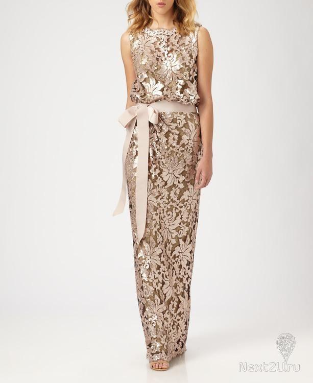 Взять в прокат Женская одежда Платья Tadashi Shoji , Nude Bluson lace Москва