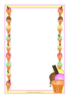 Ice-cream A4 page borders (SB8129) - SparkleBox